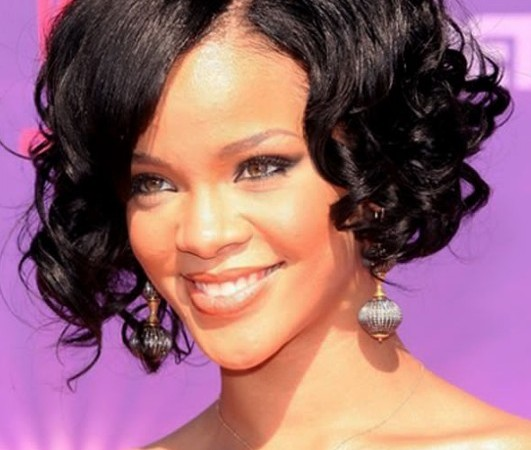Black Curly Hairstyles by Rihanna