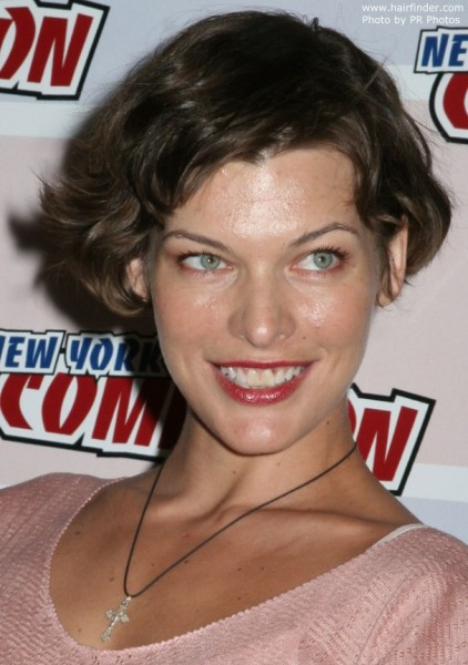 Mila Jovovich curly bobs hairstyles