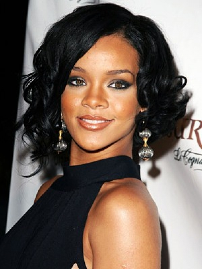 Excellent Rihanna Black Medium Hairstyles O Haircare Hairstyles For Men Maxibearus