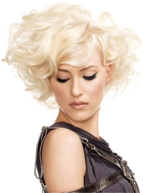 Blonde Hairstyles with Short Curly Hair