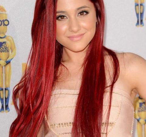 Bright Color Long Hairstyles for Straight Hair