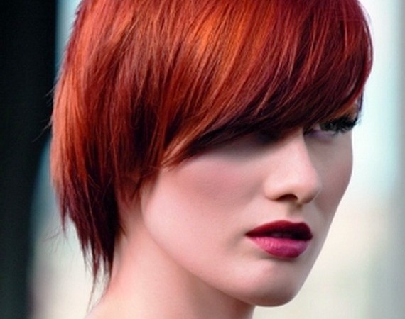 Colored Short Hairstyles for Straight Hair