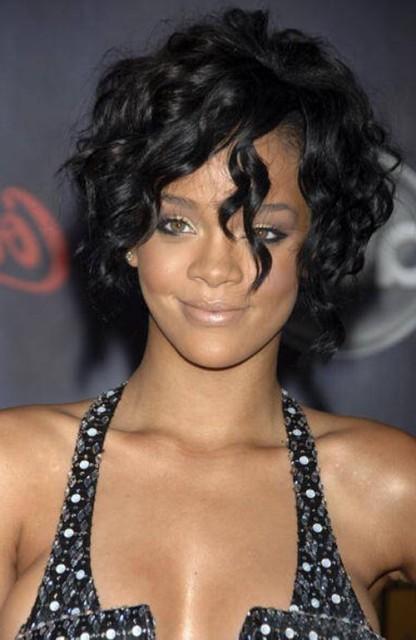 Curly Hairstyles Short by Rihanna – o-Haircare