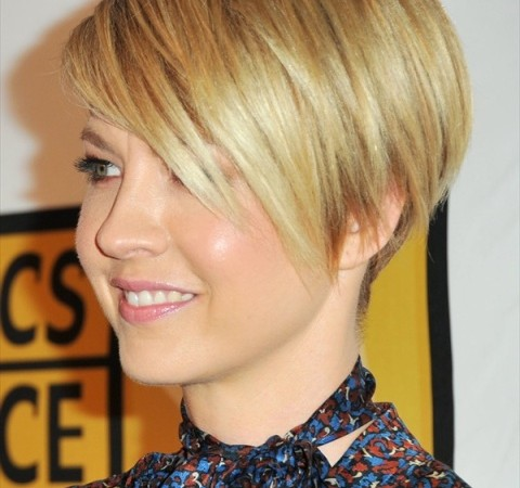Stupendous Blonde Short Hairstyles For Round Faces O Haircare Short Hairstyles Gunalazisus