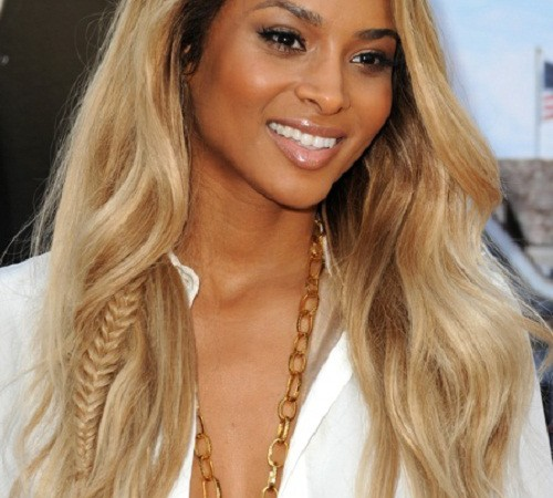 Black Celebrity with Long Blonde Hairstyles