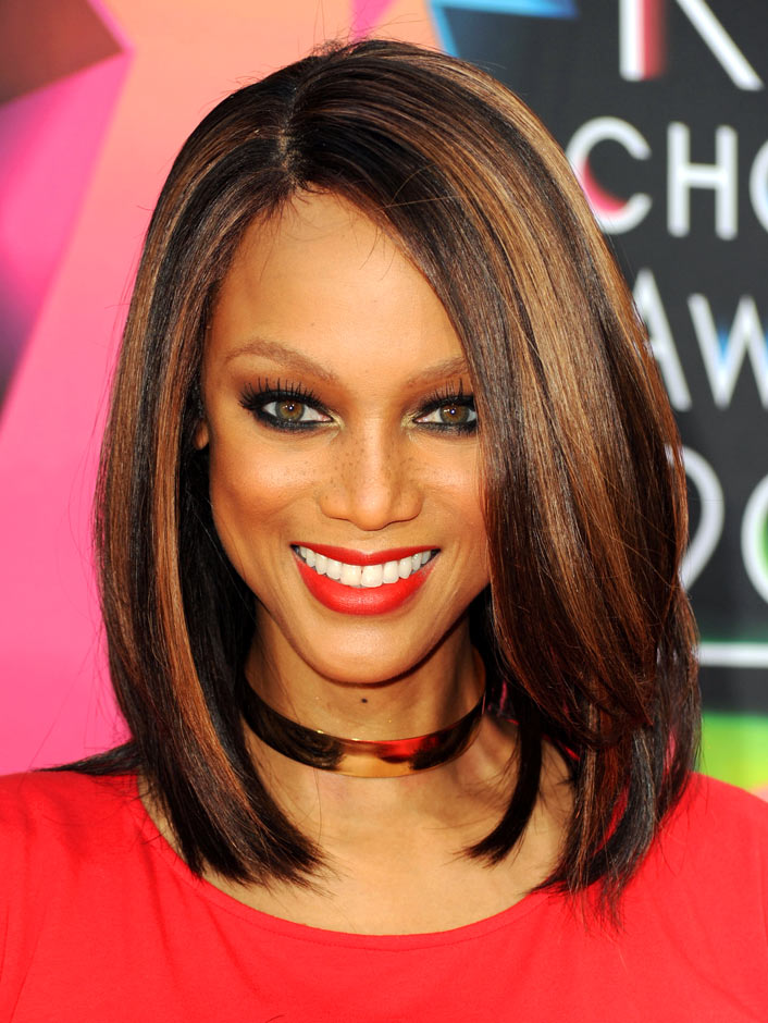 Black Celebrity with Medium Bob Hairstyles