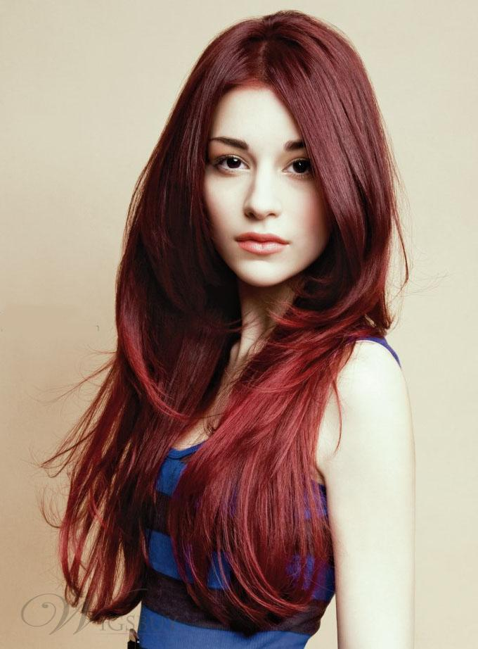 Long Red New Hairstyles for 2014