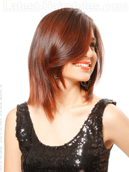 medium red style haircuts for oval face � ohaircare